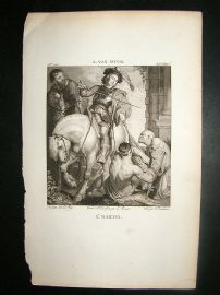 After A. Van Dyck C1810 Antique Print. St. Martin